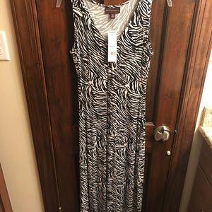 Brand new with tags zebra striped dress